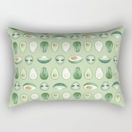 Avocados and aliens pattern Rectangular Pillow