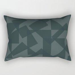 grey pattern // geometric Rectangular Pillow