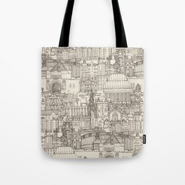 Edinburgh toile natural Tote Bag