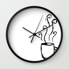 Morning Cup // Coffee Art Wall Clock