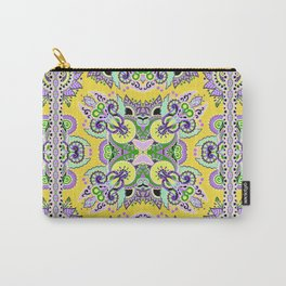 Boho Oriental Floral Pattern Var. 7 Carry-All Pouch