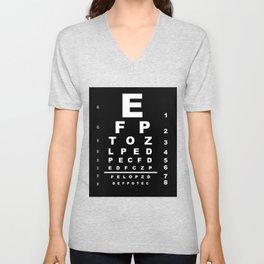 Inverted Eye Test Chart Unisex V-Neck