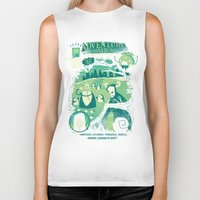 adventure Biker Tanks featuring Adventure Comics by jublin