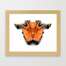 Orange Car 0945 Framed Art Print