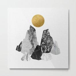 Sun and Rocks Metal Print
