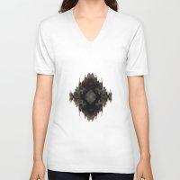 ikat V-neck T-shirts featuring Ikat Glam by Lumikka