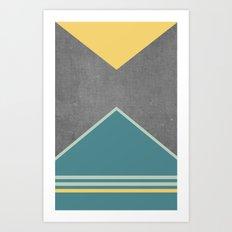 Concrete & Triangles III Art Print