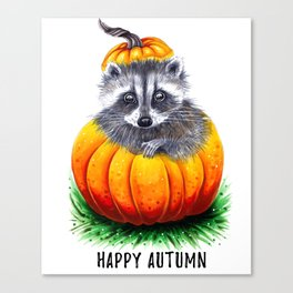 Little pumpkin Canvas Print