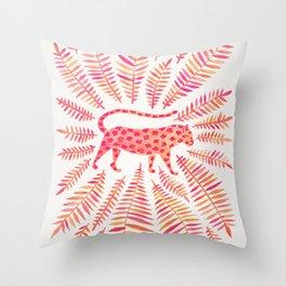 Jaguar – Pink Ombré Palette Throw Pillow