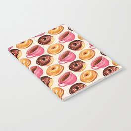 Coffee & Donuts Pattern Notebook