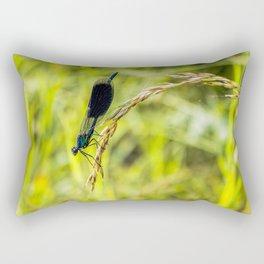 Banded Demoiselle Rectangular Pillow