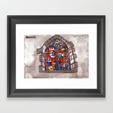 The church of sorrow: Bavois Framed Art Print