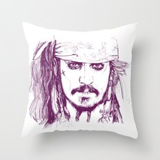 Captain Jack - Pirates of the Caribbean Throw Pillow