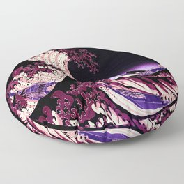 The Great WAVE Eggplant Purple Floor Pillow