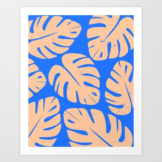 Monstera Leaf Print 5 Art Print