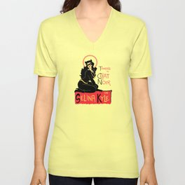 Black Cat Selina Unisex V-Neck