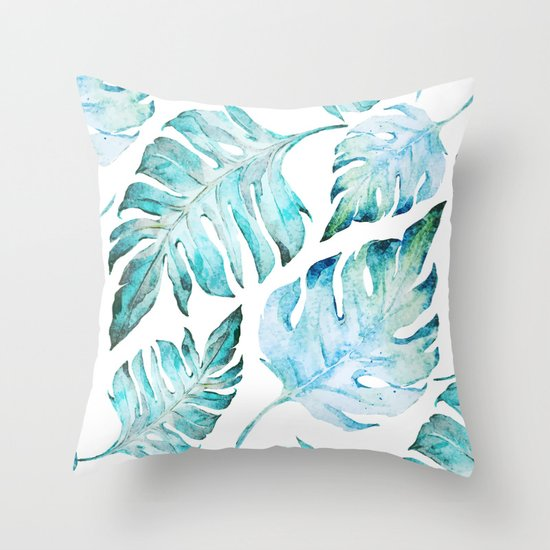 Tropical Throw Pillows For Couch : love tropical Throw Pillow by Mark Ashkenazi Society6
