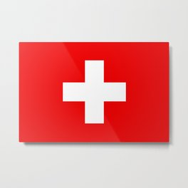 Swiss Flag of Switzerland Metal Print