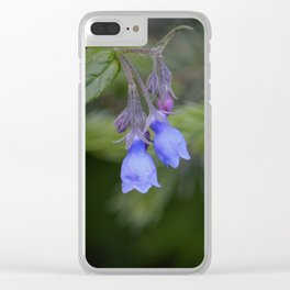 Bluebells Clear iPhone Case