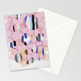 Pink Abstract Platelet #expressive #pink Stationery Cards