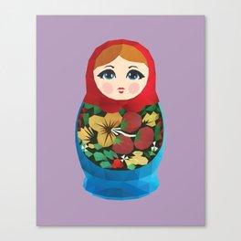 Matryoshka Polygon Art Canvas Print
