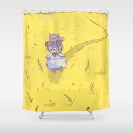 Huevember Day 3: Grain Shower Curtain