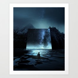 Cosmic Mirror Art Print