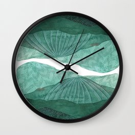 Upon the Mountains and the Moors Wall Clock