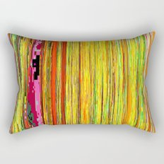 Pixelated Joy Rectangular Pillow
