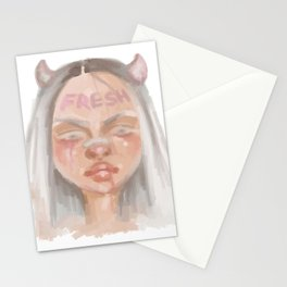 Fresh Girl Stationery Cards