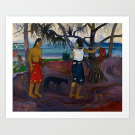 Paul Gauguin - I Raro Te Oviri (Under the Pandanus) (1891) Art Print