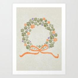A Merry Clemson Christmas Art Print