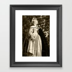 The Queen, side view (sepia version) Framed Art Print
