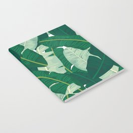 Classic Banana Leaves in Palm Springs Green Notebook