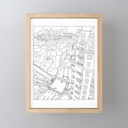 Uptown View from Above (white Tower) Framed Mini Art Print