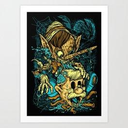 Pinocchio's Revenge Art Print