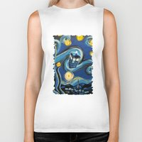 daenerys targaryen Biker Tanks featuring Tardis Starry Night by DavinciArt