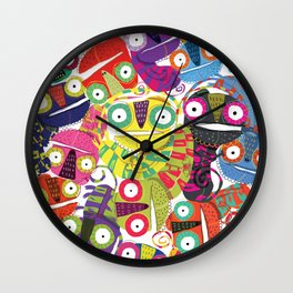 Colored lizards Wall Clock