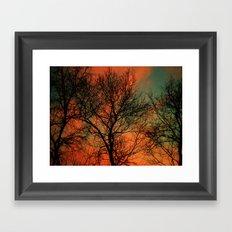 Vets Day Sunset Framed Art Print