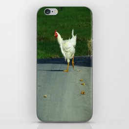 Why did the chicken cross the road? iPhone Skin