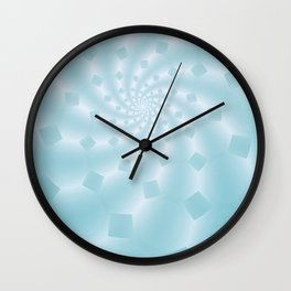 Tess Fractal in Frozen Blue Wall Clock
