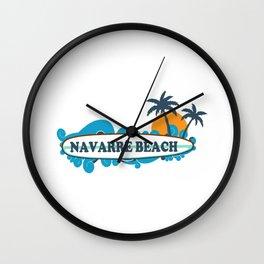 Navarre Beach - Florida. Wall Clock