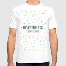 Nevertheless, She Persisted MEDIUM Mens Fitted Tee White