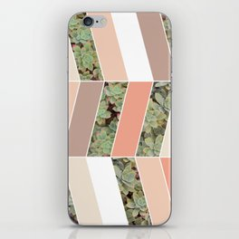 Pink Herringbone #society6 #pink #succulent iPhone Skin