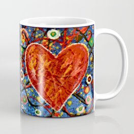 Abstract Painted Heart Coffee Mug