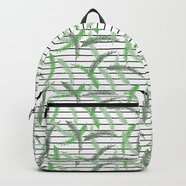 Stripes and Sprigs Backpack