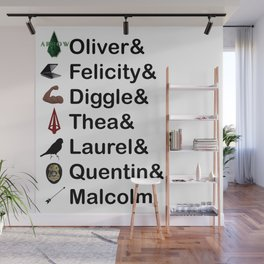Arrow Names Wall Mural