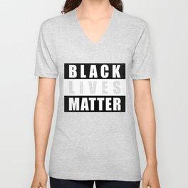 Black Lives Matter Logo, BLM Logo Block Letters, BLM, Extra Large Super Sharp Graphic 4X3 PNG Unisex V-Neck