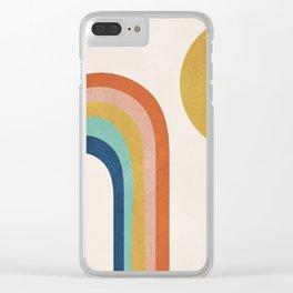 The Sun and a Rainbow Clear iPhone Case