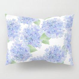 Elegant lavender lilac watercolor hydrangea floral Pillow Sham